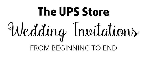 The UPS Store Wedding Invitations